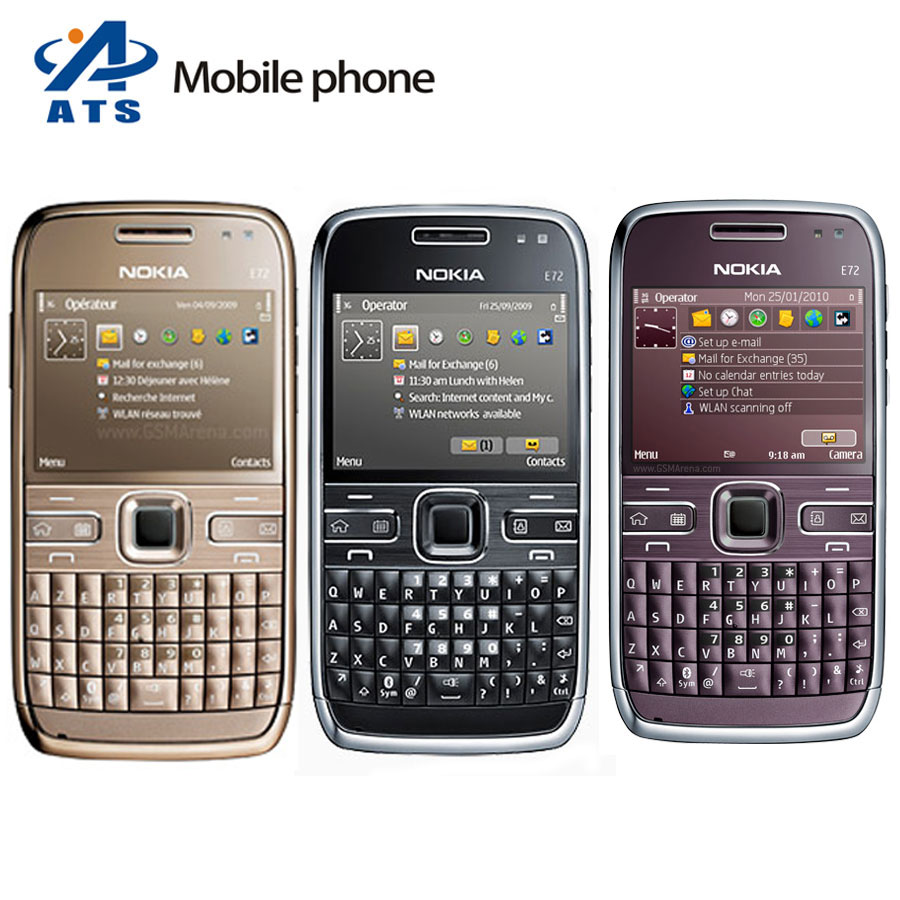 Original Nokia E72 Mobile Phone 3G GPS WIFI 5MP Camera Russian Keyboard Support Free Shipping(China (Mainland))