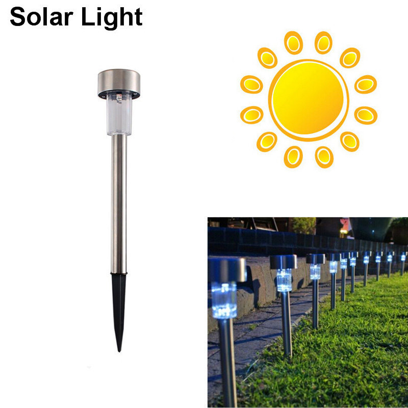 High Quality Waterproof Solar LED Lawn Light White Stainless Steel Spot Light