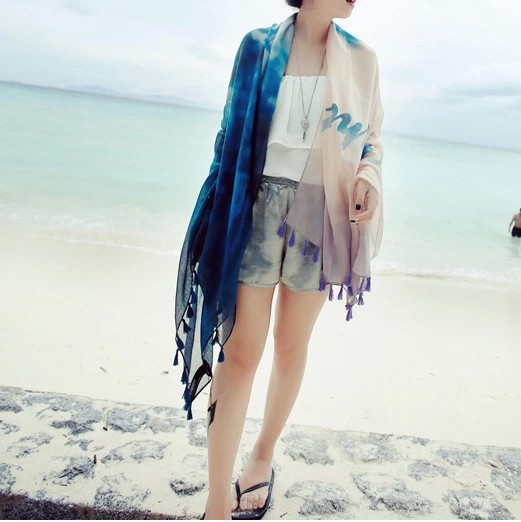 Women printed Scarves 2016 New Fashion Lady Soft Thin Oversize Chiffon Luxury Silk Fringed Scarf Foulard Sjaal Cachecol Feminino(China (Mainland))