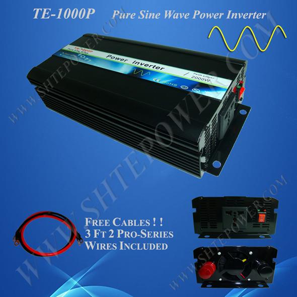 Inverter manufacturer and supplier, pure sine wave power inverter 1000W, dc 12V/24V to 220V 1000(China (Mainland))