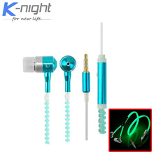 2015 hot luminous earphone Glow Headphones Original Wheat Glow In The Dark for iPhone Samsung Xiaomi