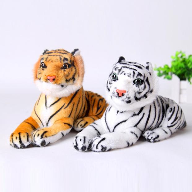 25 см Симпатичный Плюшевый Тигр Животное Игрушки Белый Желтый Прекрасный Кукла Животных Подушка Дети Дети Подарок На День Рождения Бесплатная Доставка