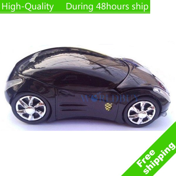 High Quality Fashion sports car wireless mouse 2.4G 10 meter Optical Waterproof wireless mouse Free Shipping(China (Mainland))