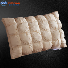 bedding pillow 48*74cm luxury Bread style rectangle goose/duck Down Pillows Down-proof Cotton fabric white purple yellow color(China (Mainland))