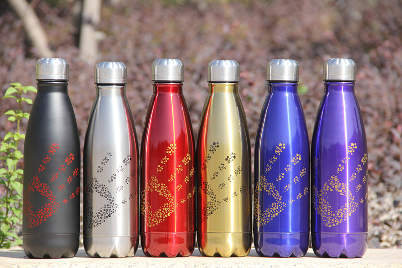Stainless steel holding water bottles Coke bottle insulated cup insulation Thermos bottle cup Creative portable Vacuum Flasks(China (Mainland))