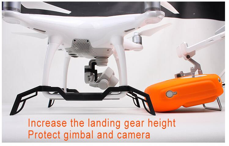 Phantom 4 Accessoried Landing Gear, Heightened Lengthened Landing Skid Gimbal Protector for DJI Phantom4 Quadcopter
