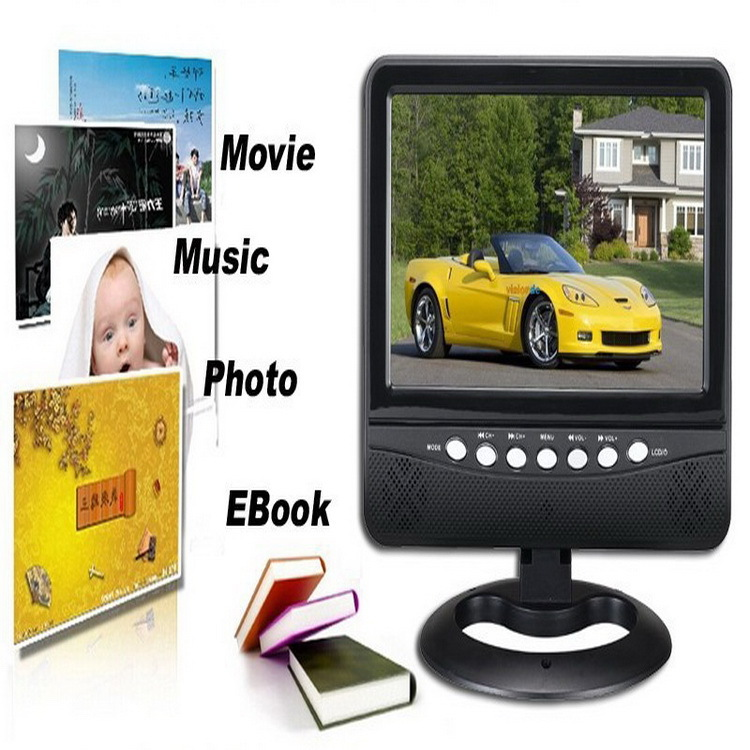 Televisions 9.5 inch Portable LED Analogue TV PAL\NTSC\SECAM 16:9 Wide screen in high resolution AV /Support SD/MMC/USB Flash(China (Mainland))