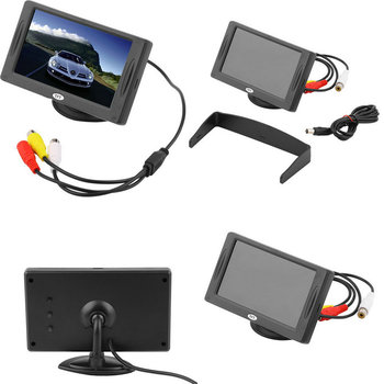 """2016 New Arrival Classic Style 4.3"""" TFT LCD Rearview Car Monitors for DVD GPS Reverse Backup Camera Vehicle driving accessories"""