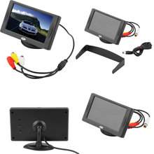 """2016 New Arrival Classic Style 4.3"""" TFT LCD Rearview Car Monitors for DVD GPS Reverse Backup Camera Vehicle driving accessories(China (Mainland))"""