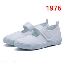 קלאסי לבן בד נעלי בנות בני ילדי ספורט נעליים לנשימה סניקרס בנים ובנות רך ילדים בית ספר נעלי גודל 22-33(China)
