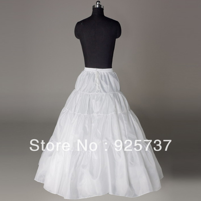 Free shipping Hot sale 3 layers Wedding Bridal Gown Dress Petticoat Underskirt Crinoline Wedding Accessories(China (Mainland))