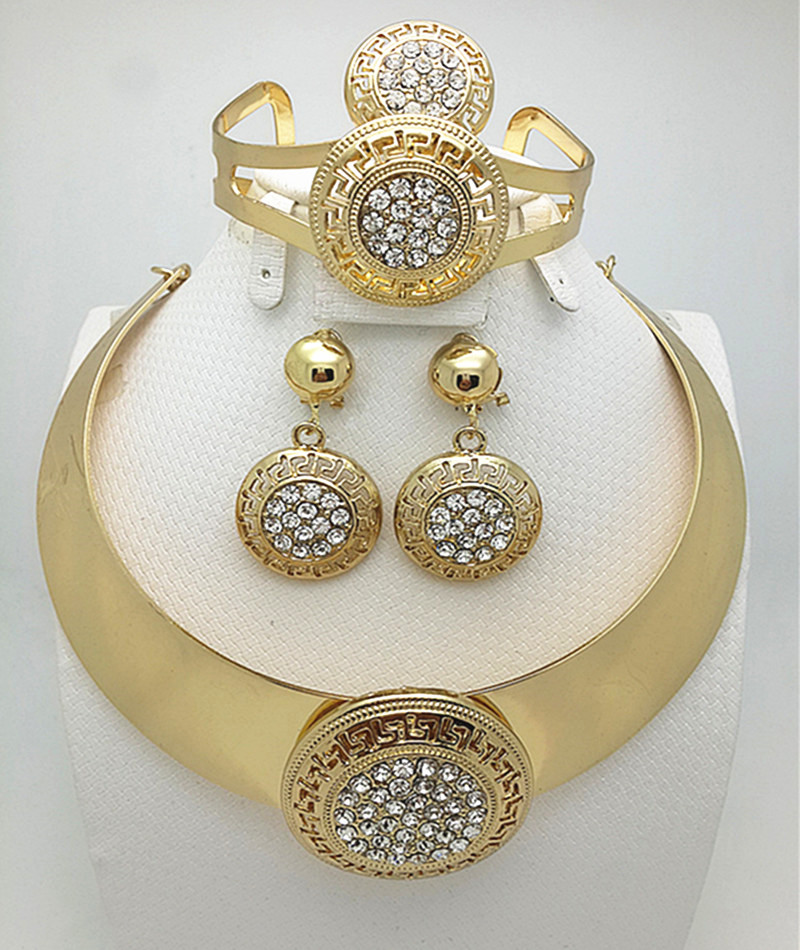 24k gold fashion jewelry sets substitutes jewelry sets substitutes costume big jewelry set women necklace. Europe USjewelry set(China (Mainland))
