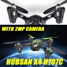 Hubsan X4 H107C 2.4G 4CH RC Quadcopter w/2MP Camera Gyro Drone Black& Green RTF+Transmitter+Battery Drones Remote Control Toys