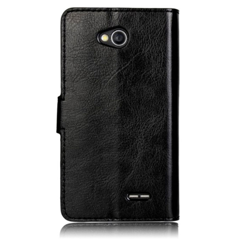 Leather slot wallet flip Cover Case For LG Optimus L70 Top Quality Crazy Ma Stripe Phone Cases Voberry(China (Mainland))
