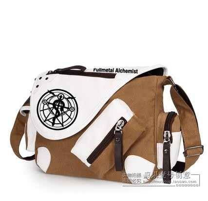 Top Quality Fullmetal Alchemist Cosplay Messenger Bag Students Shoulders Bags Free Shipping