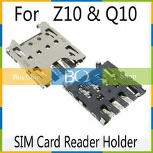 2 pcs\lot Original New SIM Card Reader Holder Tray Slot For BlackBerry Q10 Z10 Sim card reader socket(China (Mainland))