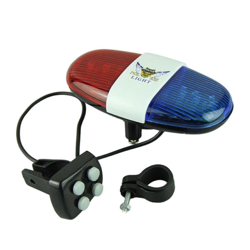 Durable Plastic 6 LED 4 Tone Sounds Bike Bicycle Horn Bell Cycling Trumpet with Lights 6145(China (Mainland))