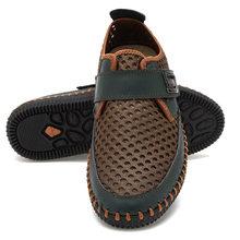 גברים של 2019 קיץ נעלי עור טלאי נעלי גבר קיץ אופנה נעליים יומיומיות לנשימה גבר סניקרס Chaussure Homme(China)