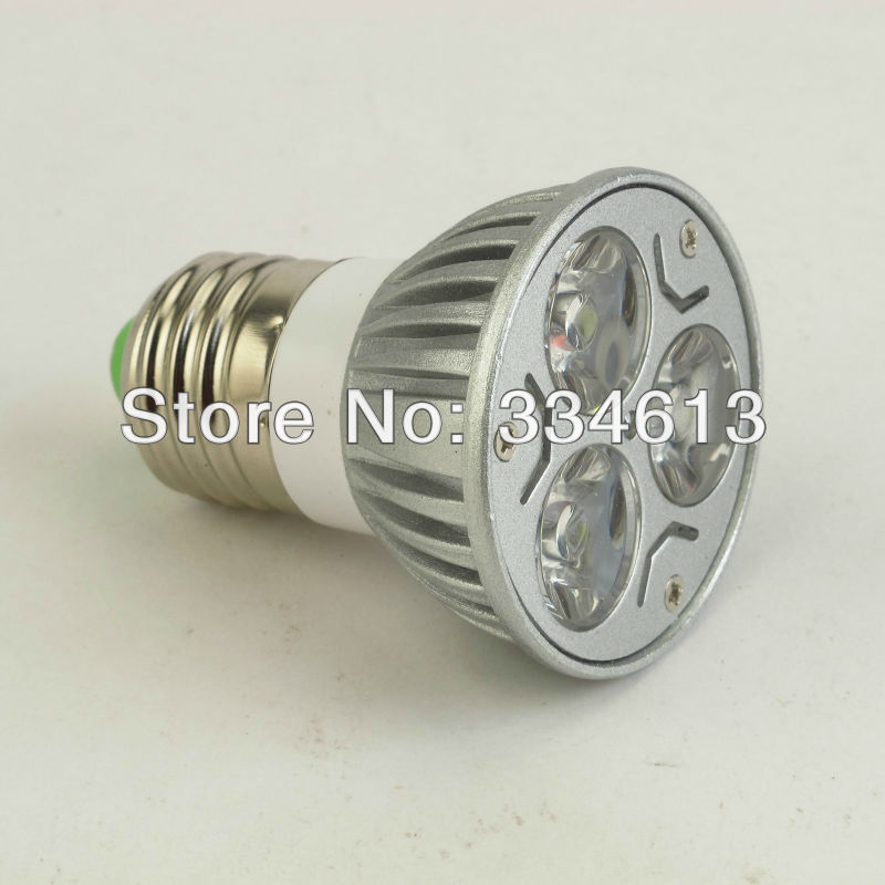 Здесь можно купить  20Pcs/lot 85-265V 3W E27 Warm/Cold  White LED Light Led Lamp Bulb Spotlight Free Shipping  Свет и освещение