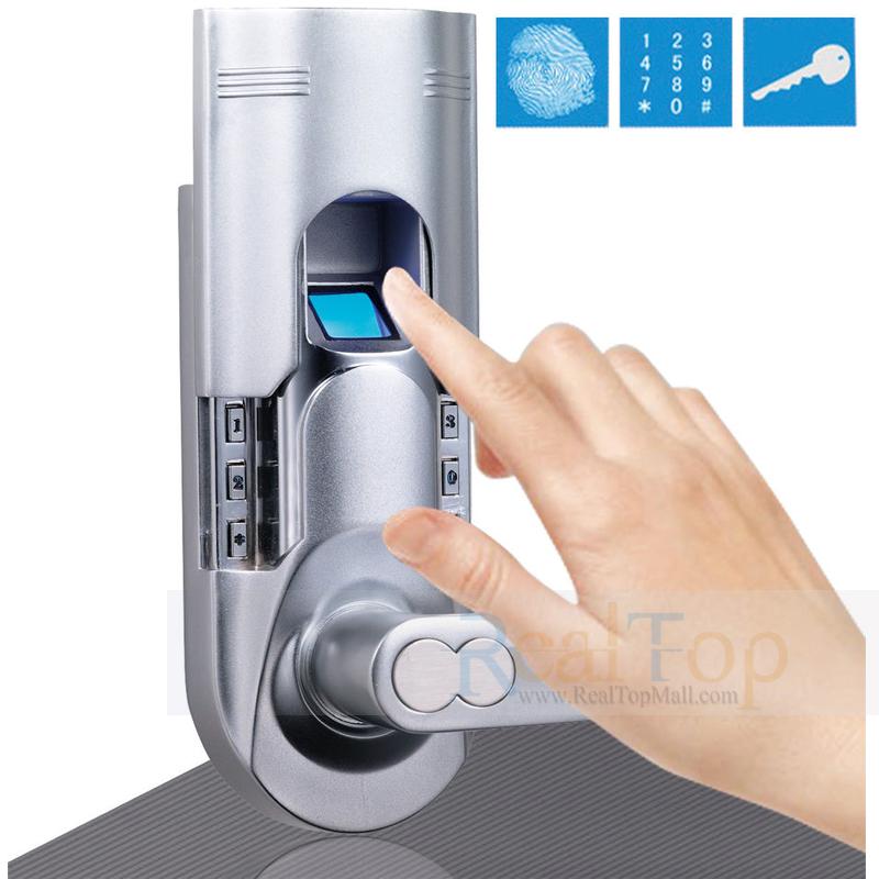Fingerprint Keypad Keyless Entry Locks Security Biometric Door Lock For Home and Offices DIY Installation