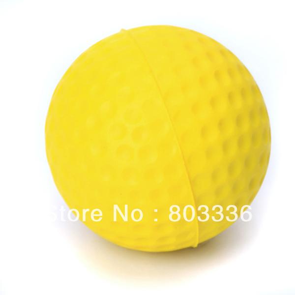 Free Shipping 10pcs PU Golf Ball Golf Training Soft Foam Balls Practice Ball - Yellow(China (Mainland))