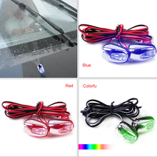Buy DWCX 2pcs LED Light Lamp Windshield Washer Wiper Jet Water Spray Nozzle Spout Wiper Washer Eye Mercedes Audi Toyota VW Kia for $3.09 in AliExpress store