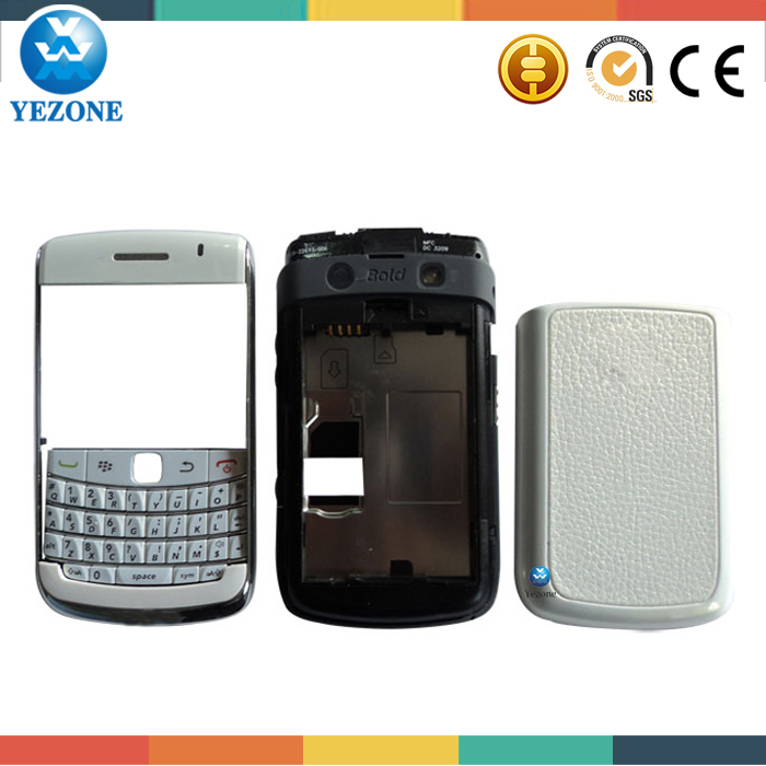 Original New Full Cover Housing Case For BlackBerry Bold 9700 Housing Black White Color Free Shipping(China (Mainland))