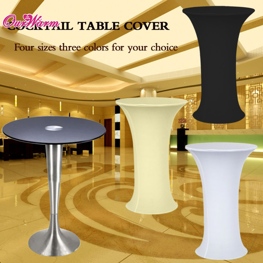 Lycra Cocktail Table Cover Spandex Tablecloth 4 sizes 3 colors Stretch Bar Bistro Wedding Decorations(China (Mainland))