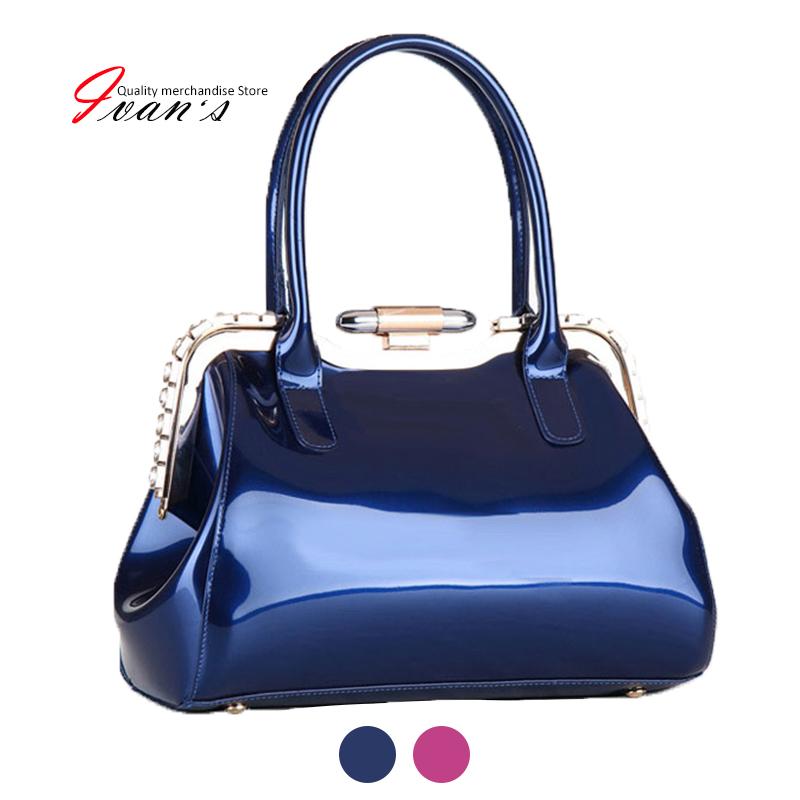 2015 new designer handbags high quality patent leather bags for women tote bag hasp party handbag desigual bag<br><br>Aliexpress
