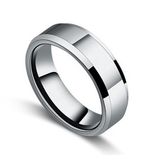 fine jewelry Male tungsten ring lovers pinky ring fashion tungsten ring for men(China (Mainland))