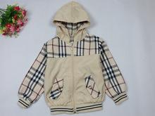 Wholesale  Brand  2014  New  fashion  spring/autumn  children's  coat   Hoodies   long   sleeve  plaid  pattern  boy's  coat (China (Mainland))