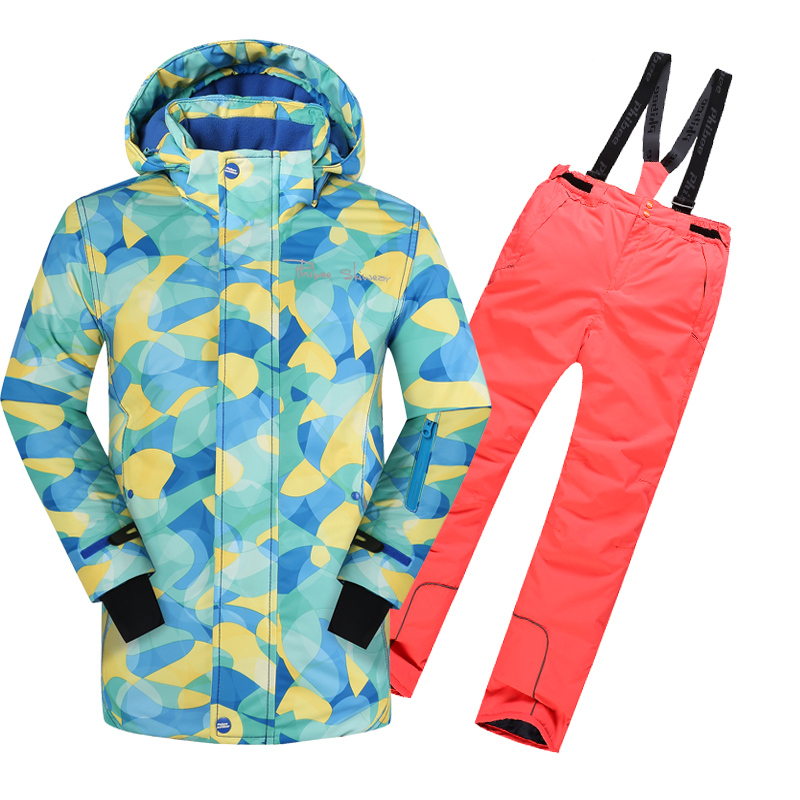 Free Shipping Winter Outdoor Children Clothing Set Windproof Ski Jackets + Pants Kids Snow Sets Warm Skiing Suit For Boys Girls<br><br>Aliexpress