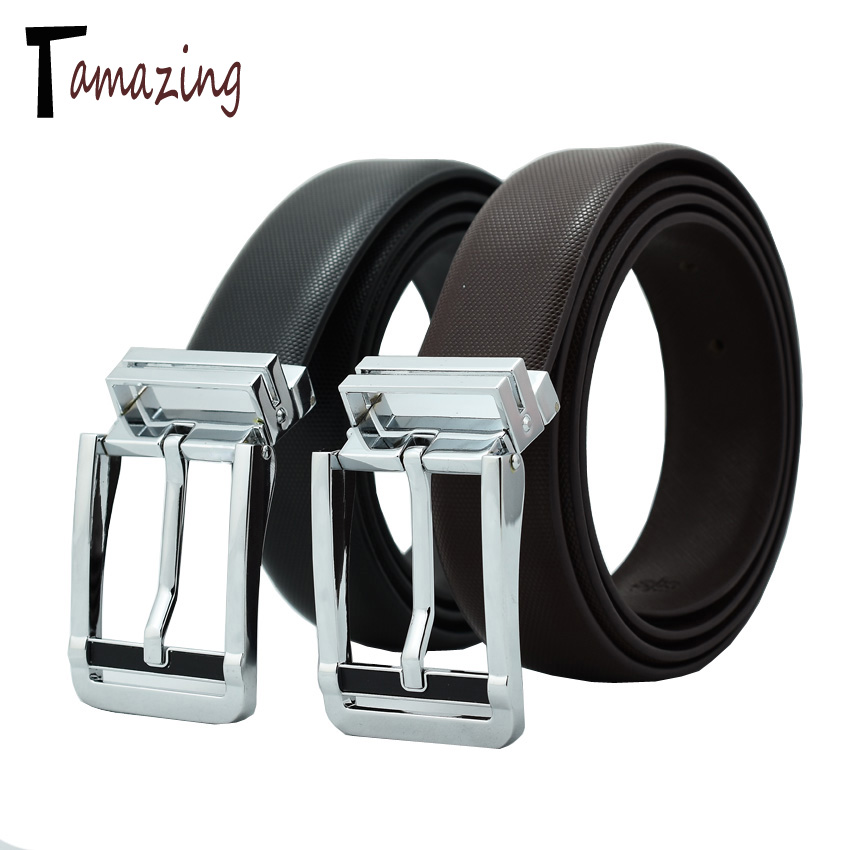 2016 designer belts men high quality cowhide leather pin buckle mens belts luxury(China (Mainland))