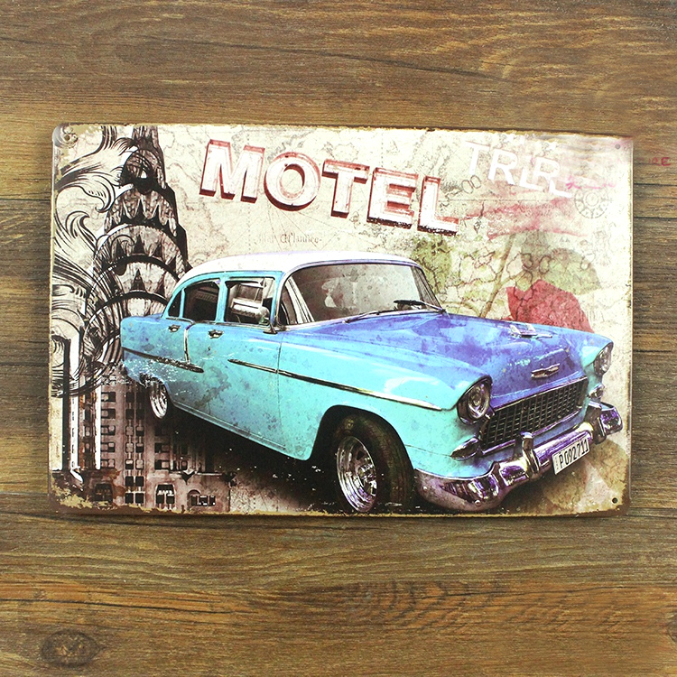 Vintage Garage poster car building wall art decor house bar coffee metal iron signs retro painting antique tin signs 20x30 cm(China (Mainland))