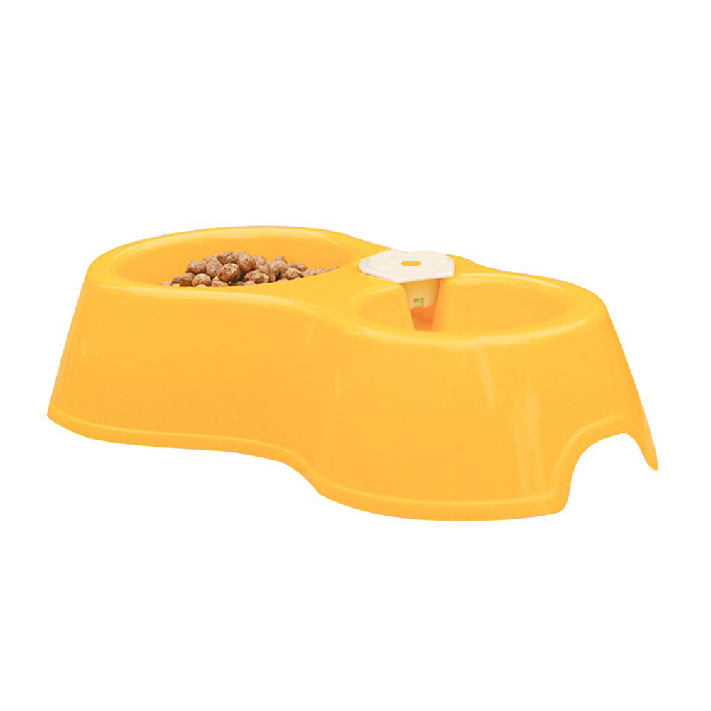 WSFS Wholesale New Pet Dog Puppy Cat Automatic Water Dispenser Drink Food Dish Feeding Bowl Yellow Best Selling(China (Mainland))