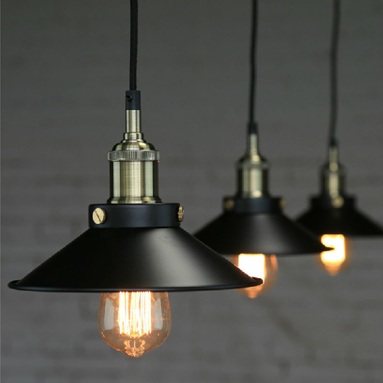 Old Industrial Pendant Light: Edison Loft Style Vintage Industrial Retro Pendant Lamp