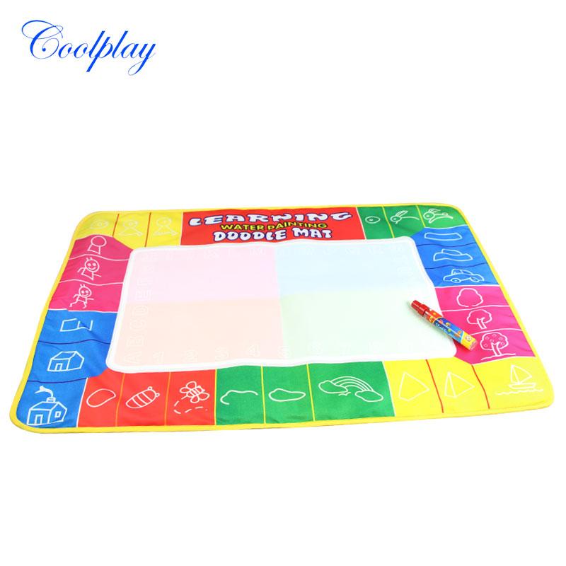 Coolplay 72X49cm 4 clolors Water drawing board with color box with 1pcs magic pen/t /Water Mat/aquadoodle mat(China (Mainland))