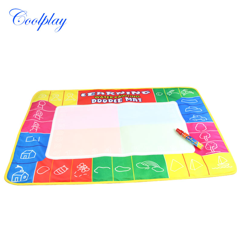 Coolplay 72X49cm 4 clolors Water drawing board with color box with 1pcs magic pen/t /Water Mat/aquadoodle mat(China (Mainland))