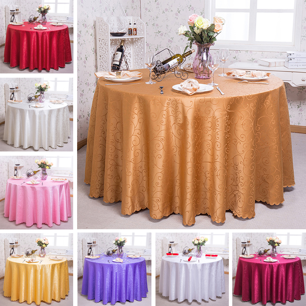 Party Banquet Wedding Table Cloth Round Square Tablecloth Cover Home Decoration Dining European Style Printed Floral