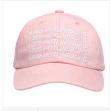 Drake OVO 1-800 Hotline Bling Hat Pink Octobers Very Own 6 God Yeezy cap Casquette 6 god pray ovo strapback caps palace hats(China (Mainland))