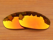 Fire Red Mirror Polarized Replacement Lenses For Juliet Sunglasses Frame 100% UVA & UVB Protection
