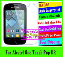Buy Alcatel One Touch Pop D2 LCD film Matte Anti-glare mobile protective film phone screen protector de pantalla projector for $1.33 in AliExpress store