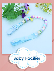 image for 1 Pc Newest Baby Pacifier Chain Clip Animal Cartoon Baby Pacifier Anti