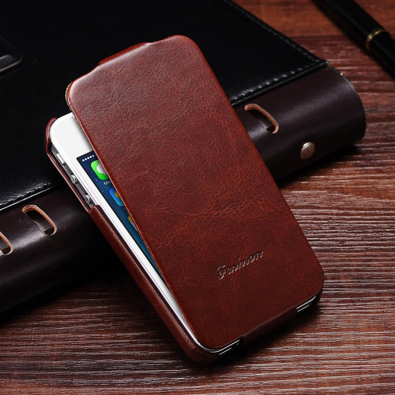 Luxury Vintage PU Leather Flip Case For iPhone 4 4S Elegant Vertical Flip Phone Cover For
