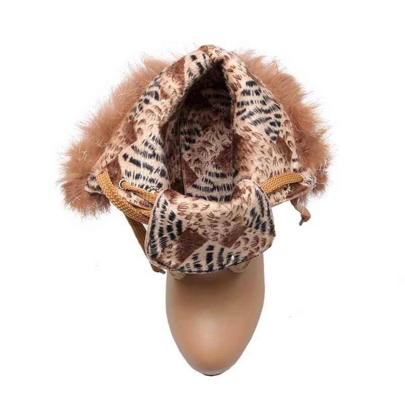 ซื้อ พลัสSize34-43 2016ใหม่เซ็กซี่เลดี้ชุดข้อเท้าบู๊ทส์แพลตฟอร์มส้นสูงปั๊มขนของผู้หญิงฤดูหนาวรองเท้าหิมะSBT2360