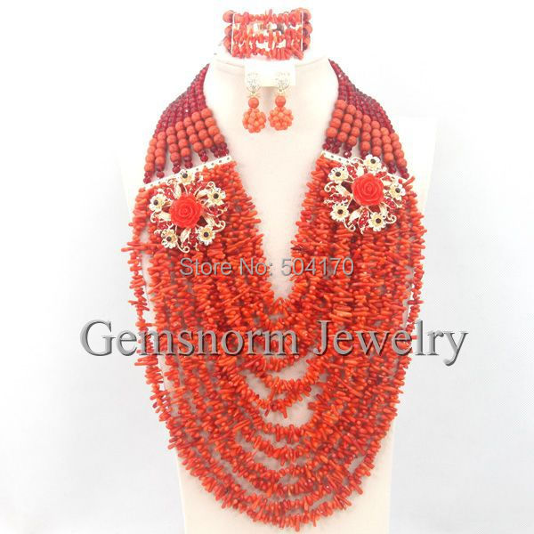 2015 Luxury African Wedding Beads Jewelry Set Bridal Party Jewelry Sets Free Shipping CNR228<br><br>Aliexpress