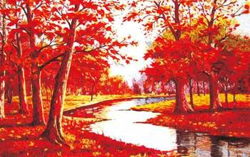 Free shipping wall gobelin tapestries,Beautiful maples of the autumn  for festival,DEC picture for small room and porch