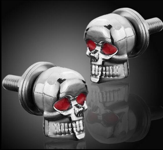 6 Pcs Skeleton Skull Bolt Nuts Screws For Harley Road King Softail FXSTI Custom for Honda VF Magna 500 700 750 1100 VT Shadow Ac