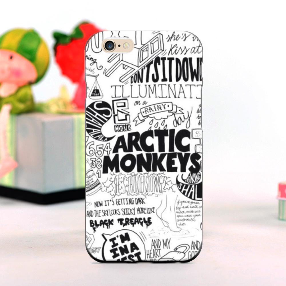 arctic monkeys t shirt mobile phone Cases for iphone 5s 4s 4c 6 6plus and Case for Samsung S3 S4 S5 S6 S7 Note 2 3 4 5(China (Mainland))
