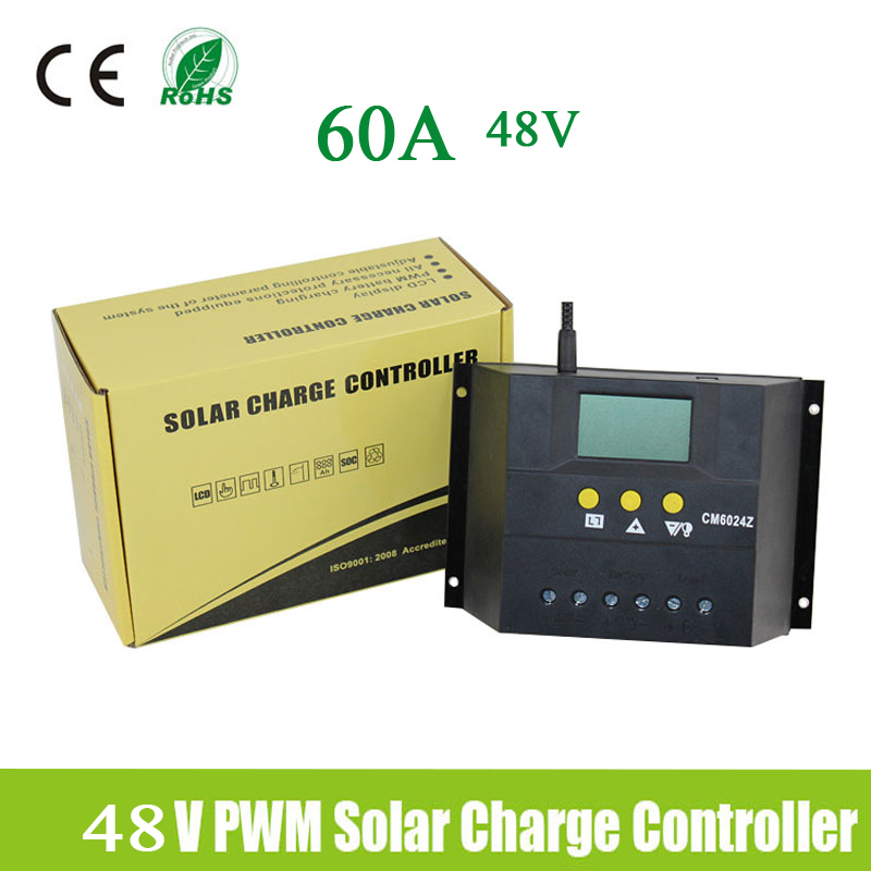 For 48V Solar Panel 60A Solar Charge Controller Regulator Auto solar systems charge/discharge Volt can adjustable<br><br>Aliexpress